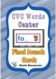 CVC Word Center Final Sound Cards