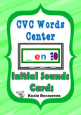 CVC Word Center Initial Sounds Cards