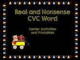 CVC Word Centers and Printables