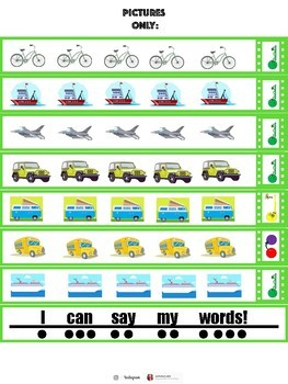 "CVC Word Chain- ""Vehicles"""