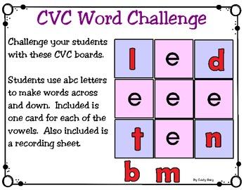 CVC Word Challenge