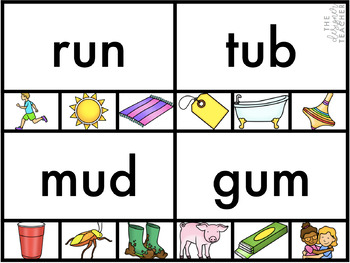 Centers by Design: CVC Word Clip Cards