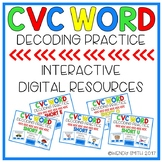 CVC Word Decoding-Interactive Digital Resource