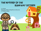 CVC Word Detectives - Beginning Middle Ending Sounds Phonics Mysteries