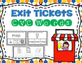 CVC Words Exit Tickets