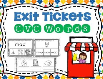 CVC Words Exit Tickets