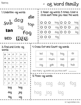 CVC Word Families, 5 different activities, 27 families covered