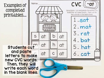 CVC Word Families Activities & Printables!
