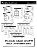CVC Word Families Bundle (Sorts for all 5 vowels)