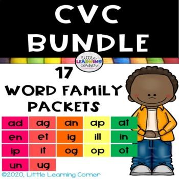CVC Word Families BUNDLE ~ Short a e i o u