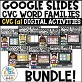 Google Slides™ CVC Short A Word Families Digital Activities BUNDLE