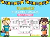 CVC Word Families Cut & Paste (Summer)