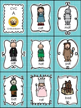 CVC Word Families EXPANSION PACK for The Land of Oz Sight Word Game
