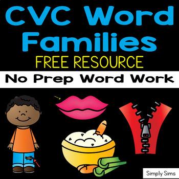 CVC Word Families FREE!!!