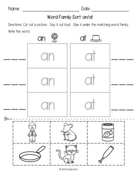 Free Download! CVC Word Families