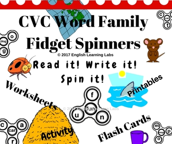 CVC Word Families Fidget Spinners