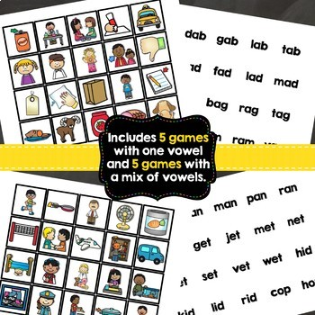 CVC Word Families Game