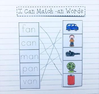CVC Word Families Interactive Notebook