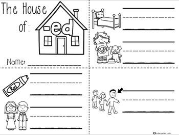 CVC Word Families Mini Books (Short e)