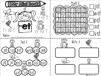 CVC Word Families Mini Books (short a)