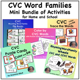 CVC Word Families Mini Bundle of Printable Activities for