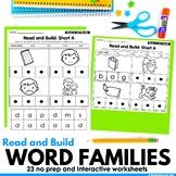 CVC Word Families Making Words Cut & Glue Worksheets Dista