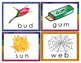 CVC Word Families Picture Word Cards for Puzzles, Matching in Color and BW