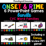 CVC Word Families PowerPoint Games Onset and Rime Bundle