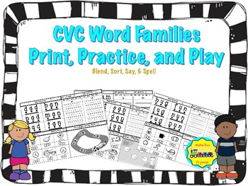 CVC Word Families: Print, Practice, and Play