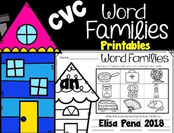 CVC Word Families Printables