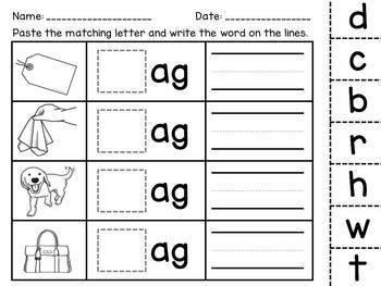 CVC Word Families / Short vowels / Handwriting / Rhyming  {Emergent Readers}