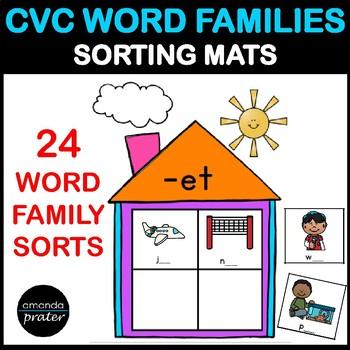 CVC Word Families Sorting Activities
