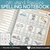 CVC Word Families Spelling Notebook
