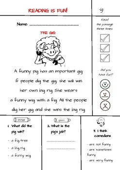 CVC Word Families Text Evidence Comprehension Passages