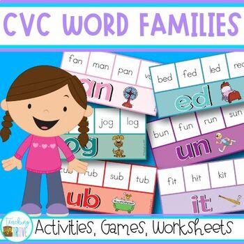 Word Families for Kindergarten - CVC Word Work