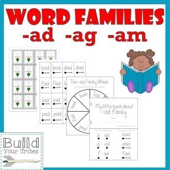 Word Families -ad -ag -am