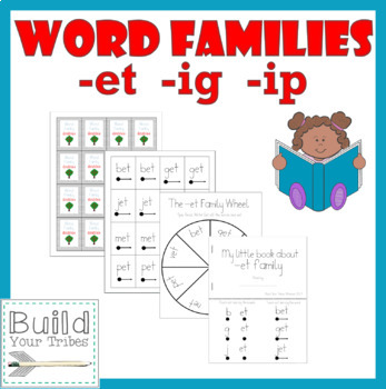 Word Families -et -ig -ip