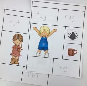 CVC Word Families for Short Vowels with Rhyming Dust Bunnies