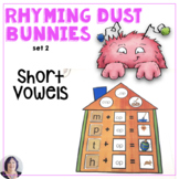 CVC Word Families for Short Vowels with Rhyming Dust Bunnies Speech Language
