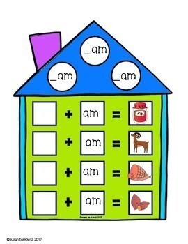 CVC Word Families for Short /a/ with Rhyming Dust Bunnies