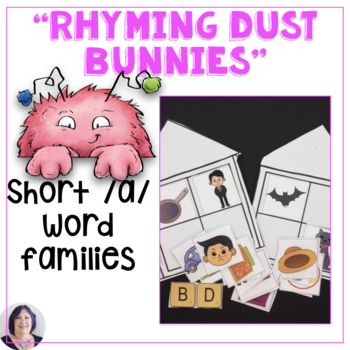 CVC Word Families for Short A with Rhyming Dust Bunnies Speech Language