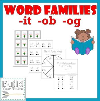 Word Families -it -ob -og