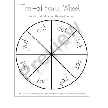 Word Families -ot -ug -ut