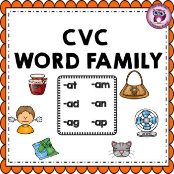 CVC Word Family {-ad -at -ag -am -an -ap}