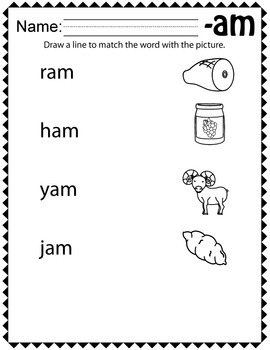 "CVC Word Family ""A"" Print and Go Worksheets"