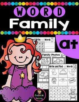 CVC Word Family AT Worksheets