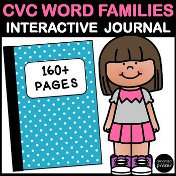 CVC Word Families: No Prep Interactive Notebook Activities