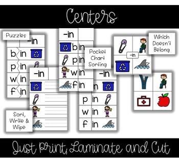 CVC Word Family BUNDLE - Onset and Rime