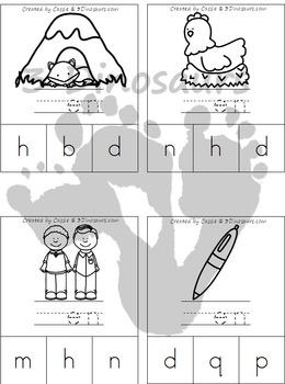 CVC Word Family Beginning Sound Clip Cards
