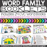 CVC Word Family Booklets Distance Learning Packet
